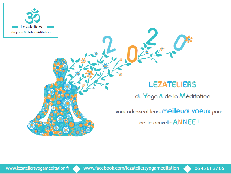 Voeux Lezateliers yoga meditation 2020